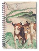 Animals In A Landscape Spiral Notebook