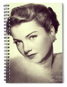 Anne Baxter, Vintage Actress Spiral Notebook