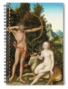 Apollo And Diana Spiral Notebook