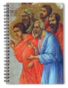 Appearance Of Christ To The Apostles Fragment 1311  Spiral Notebook