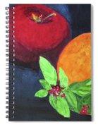 Apple, Orange And Red Basil Spiral Notebook