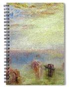 Approach To Venice Spiral Notebook