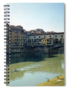 Arno River In Florence Italy Spiral Notebook