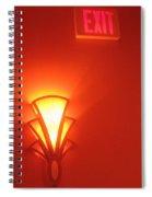 Art Deco Light Exit Sign Fox Tucson Theater Tucson Arizona 2006 Spiral Notebook