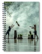 Asian Farmers Earn Rice Fields Spiral Notebook