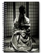 Asian Woman With Her Hands Tied Behind Her Back Spiral Notebook