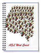 Asl West Coast Map Spiral Notebook