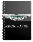 Aston Martin 3 D Badge On Black  Spiral Notebook