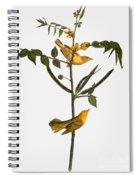 Audubon: Warbler, 1827-38 Spiral Notebook