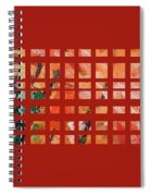 Autumn Abstract Spiral Notebook