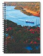 Autumn Along The Hudson Spiral Notebook