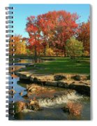Autumn At The Deer Lake Creek Riffles In Forest Park St Louis Missouri Spiral Notebook