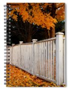 Autumn Fence Spiral Notebook