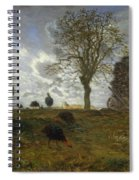 Autumn Landscape With A Flock Of Turkeys Spiral Notebook