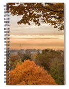 Autumn On The Hill Spiral Notebook