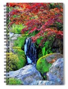 Autumn Waterfall - Digital Art 5x3 Spiral Notebook