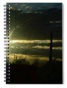 Az Cloudy Sunset Spiral Notebook