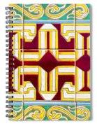 Azulejo - Geometrical Decoration  3 Spiral Notebook