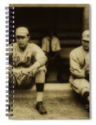 Babe Ruth On Far Left With The Boston Red Sox 1915 Spiral Notebook