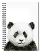 Baby Panda Watercolor Spiral Notebook