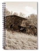 Back When Barn Sepia Spiral Notebook