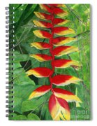 Balinese Heliconia Rostrata Spiral Notebook