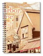 Bar Harbor Maine Shops At Night Spiral Notebook
