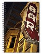 Bar Sign Spiral Notebook