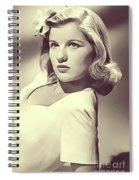 Barbara Bel Geddes, Vintage Actress Spiral Notebook
