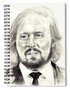 Barry Gibb Portrait Spiral Notebook