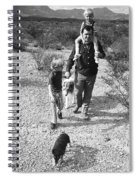 Barry Sadler With Sons Baron And Thor Taking A Stroll 1 Tucson Arizona 1971 Spiral Notebook