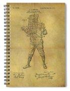 Baseball Catcher's Mask Patent Spiral Notebook