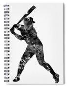 Baseball Player Spiral Notebook