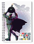 Batfleck And The Bomb Spiral Notebook