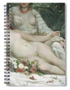 Bathers Or Two Nude Women Spiral Notebook