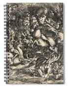 Battle Of Nude Men Spiral Notebook