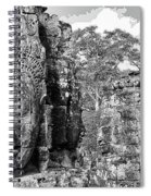 Bayon Faces  Spiral Notebook