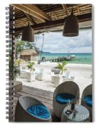 Beach Bar In Sok San Area Of Koh Rong Island Cambodia Spiral Notebook