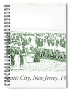 Beach, Bathers, Ocean, Atlantic City, New Jersey, 1902 Spiral Notebook