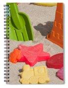 Beach Toys Spiral Notebook