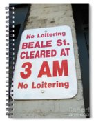 Beale Street Sign Spiral Notebook