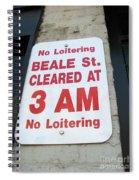 Beale Street Sign Spiral Notebook