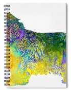 Bearder Collie-colorful Spiral Notebook