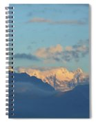 Beautiful Countryside Of The Italian Mountains With A Cloudy Sky Spiral Notebook
