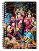 Beautiful Image Of Krishna And Radhe From Boise Hare Krishna Temple Spiral Notebook