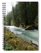 Beautiful White Water Spiral Notebook
