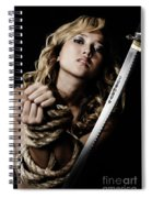 Beautiful Woman Begging For Mercy Spiral Notebook