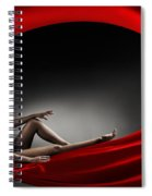 Beautiful Woman In A Whirl Of Power Spiral Notebook
