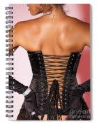 Beautiful Woman In Black Corset Spiral Notebook