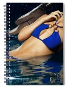 Beautiful Young Woman In Blue Bikini Spiral Notebook